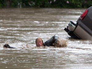 in High River, Alta. on June 20, 2013 after the Highwood River overflowed its banks. THE CANADIAN PRESS/Jordan Verlage